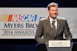 2014 Myers Brothers Award winner Dale Earnhardt Jr.