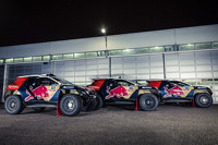 The three Peugeot 2008 DKR