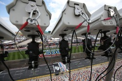 Cameras and sensors used to monitor pit road