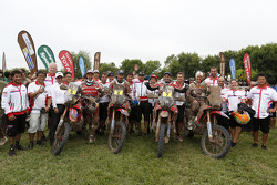 Honda bike team photo