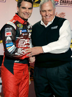 Jeff Gordon with Rick Hendrick