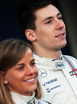 (L to R): Susie Wolff, Williams Development Driver with Alex Lynn, Williams Development Driver