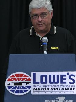 Evernham Motorsports press conference: president of Stanley Don McIlnay