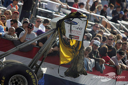 Mitch King's Top Fuel after the fire