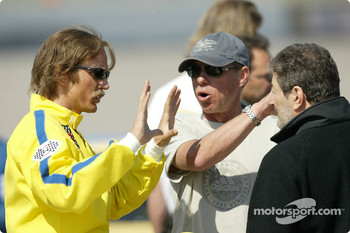 Barry Pepper as Dale Earnhardt with Director Russell Mulcahy and Producer Lynn Raynor