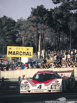 #4 Joest Racing Porsche 936C: Bob Wollek, Jean-Michel Martin, Phillippe Martin