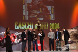 The 'Caschi d'oro' prize giving: Jean Todt, Michael Schumacher, Rubens Barrichello and Luca Badoer on stage