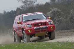 Benoit Rousselot and Philippe de Weindel test the Nissan Terrano