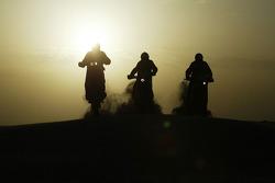 KTM team testing: Giovanni Sala, Marc Coma and Isidre Esteve Pujol