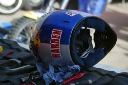 KTM team testing: helmet of Scot Harden