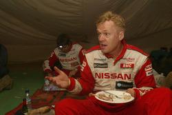 Ari Vatanen at the bivouac in Tichit