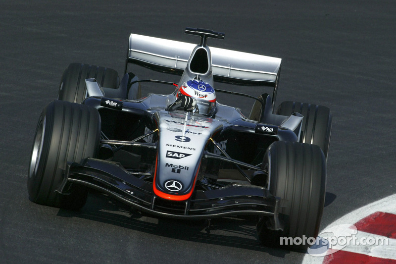Kimi Raikkonen tests the new McLaren Mercedes MP4-20