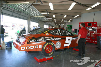 Dodge of Kasey Kahne in the garage