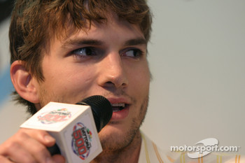 Press conference: Honorary Starter Ashton Kutcher
