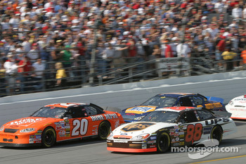Tony Stewart, Dale Jarrett and Michael Waltrip