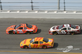 Jeff Burton, Travis Kvapil and Dale Earnhardt Jr.