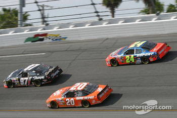 Kurt Busch, Tony Stewart and Jeff Gordon