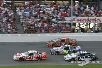 Casey Mears, Kasey Kahne, Jimmie Johnson and Ryan Newman