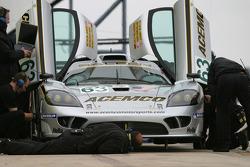 ACEMCO Motorsports crew members at work