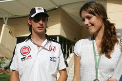 Jenson Button and girlfriend Louise Griffith