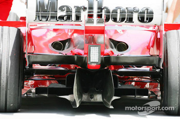 The rear of the Ferrari F2005