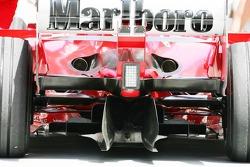 The rear of the Ferrari F2005