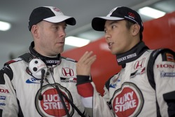 Takuma Sato with race engineer Jock Clear
