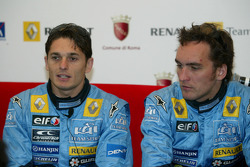 Giancarlo Fisichella and Flavio Briatore