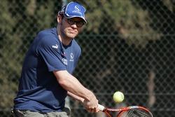 F1 Tennis Charity for the Northampton Intensive Care Unit at the Sanchez-Casal Open Tennis Academy: Jacques Villeneuve