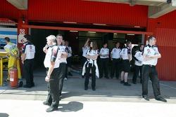 BAR-Honda garage