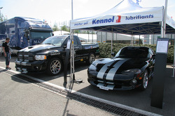 Daytona International Speedway official pace truck and Dodge Viper GTS