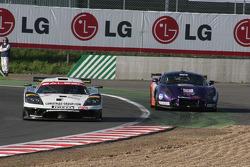 #7 Graham Nash Motorsport Saleen S7 R: Joel Camathias, Paolo Ruberti, #80 Team LNT TVR T400R: Lawrence Tomlinson, Jonny Kane