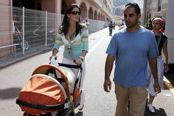 Connie and Juan Pablo Montoya with son Sebastian