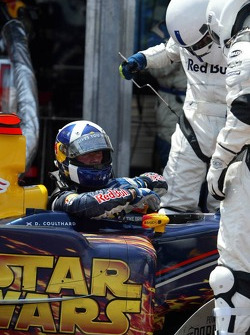David Coulthard out