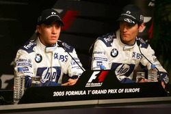Saturday press conference: pole winner Nick Heidfeld with Mark Webber