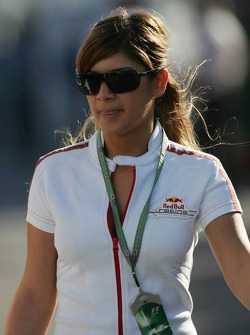 A Red Bull Racing staff member