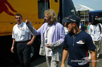 Christian Klien with TV personality Thomas Gottschalk