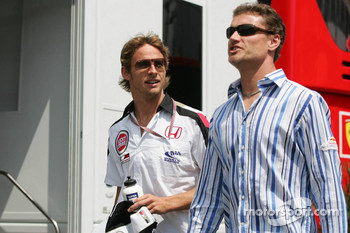Jenson Button and David Coulthard