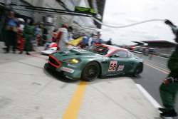 #58 Aston Martin Racing Aston Martin DBR9: Tomas Enge, Peter Kox, Pedro Lamy back in the garage