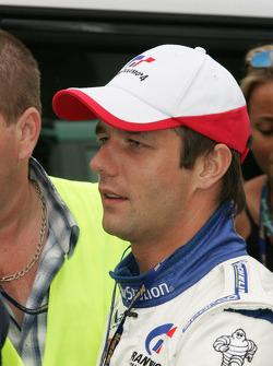 Sébastien Loeb arrives at the track