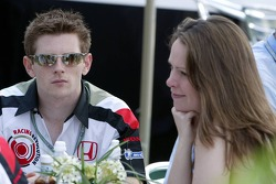 Anthony Davidson with girlfriend June