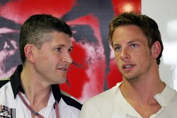 Nick Fry and Jenson Button