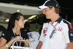 Danica Patrick and Jenson Button