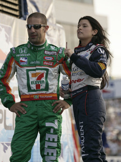 Danica Patrick and Tony Kanaan