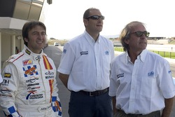 Adrian Campos, Bruno Michel and Jacques Laffite