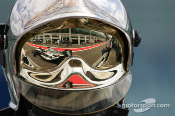 Reflection of Juan Pablo Montoya