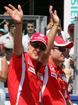 Drivers presentation: Michael Schumacher and Rubens Barrichello