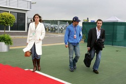 Felipe Massa, girlfriend Rafaella Bassi and Nicolas Todt