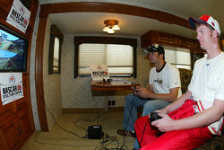 Dale Earnhardt Jr. and Martin Truex Jr. play the new EA Sports NASCAR 2006 Game