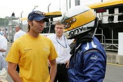 Heinz-Harald Frentzen and Jody Scheckter